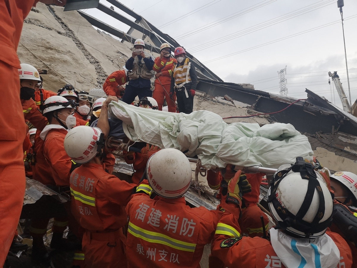 Heartbreak and joy as rescue efforts continue at collapsed hotel