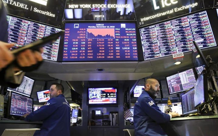Dow closes down over 2,000 points