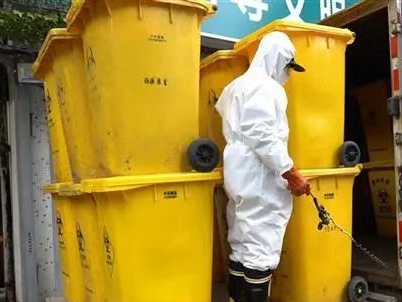 How does Wuhan dispose of surging medical waste without contamination?