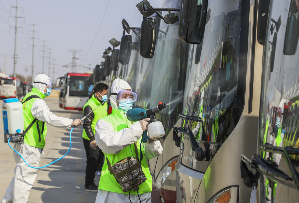Bus services resume gradually in Shandong