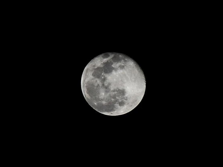 Full moon seen in sky over Damascus, Syria