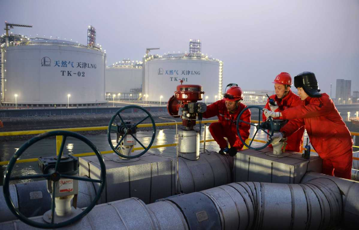 China's comprehensive LNG import price drops last week