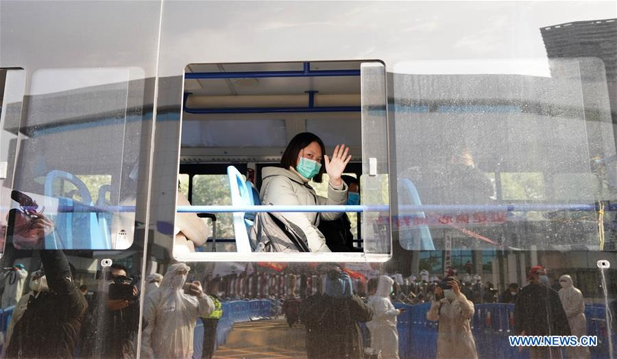 Final batch of 49 patients discharged from Wuchang temporary hospital