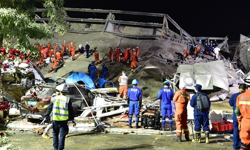 Collapsed hotel building in Quanzhou illegally constructed: authority
