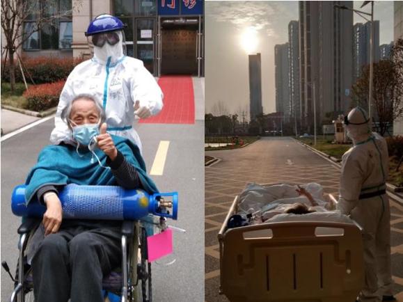 Elderly coronavirus patient of the popular sunset scene gets better