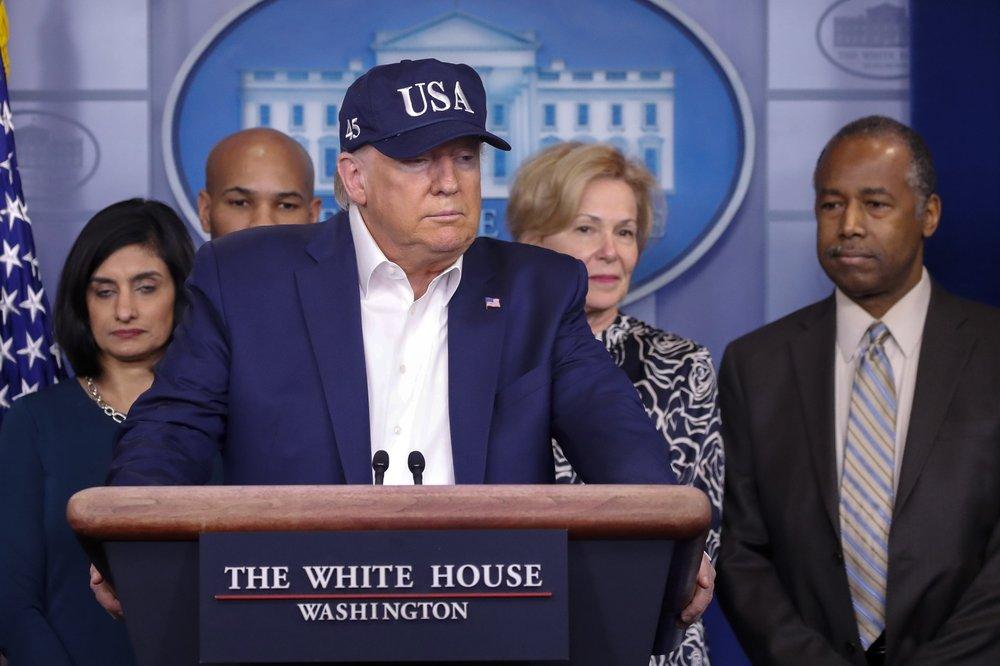 Trump takes virus test, awaiting results