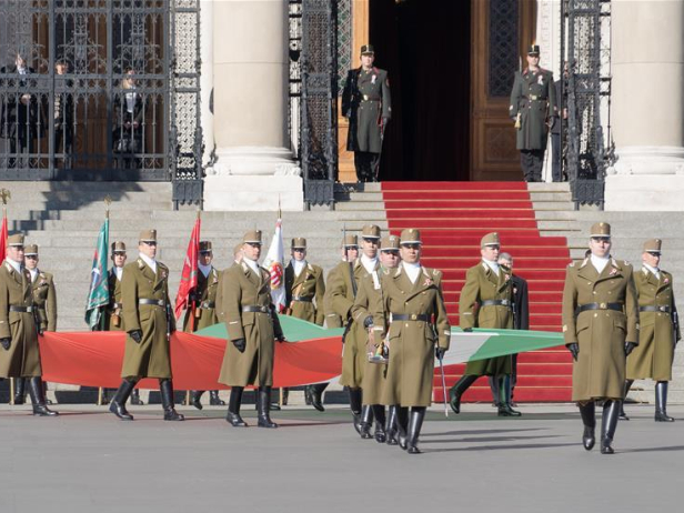 Flag-raising ceremony held to celebrate Hungarian national holiday