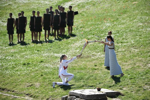 Olympic flame handover ceremony to be closed