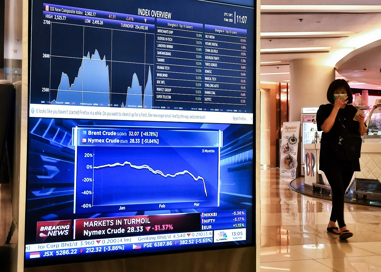 Asian markets tumble again after virus sparks Wall St collapse