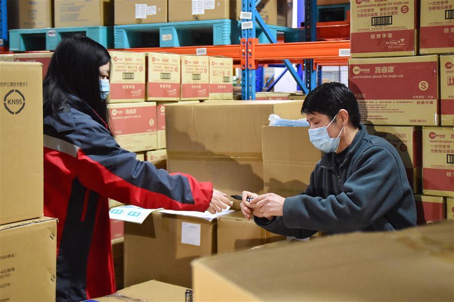 Medical masks destined for France arrives in Belgium from China