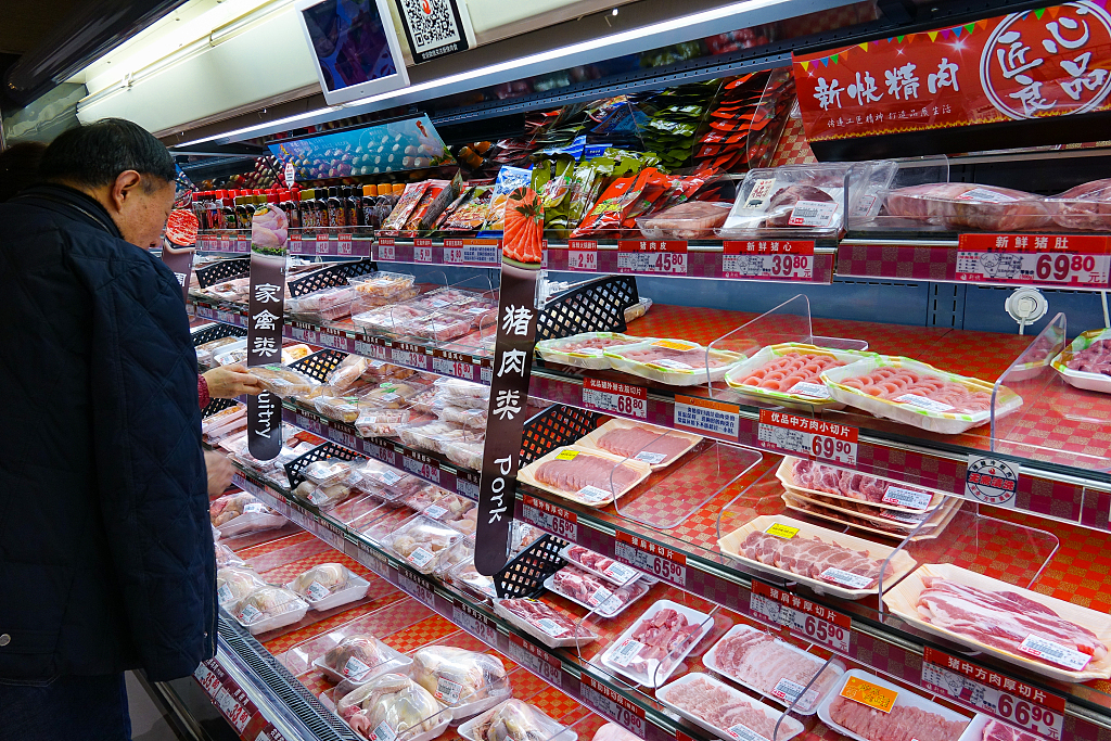 China's pork prices continue to moderate