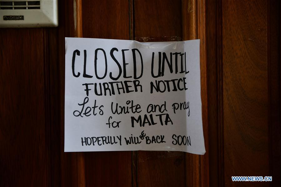 Malta orders bars, restaurants, cinemas to close due to coronavirus