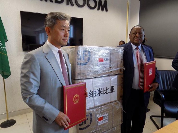 Namibia's COVID-19 fight boosted with donation of 1,000 reagent testing kits from China