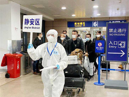 Pudong International Airport takes prevention measures