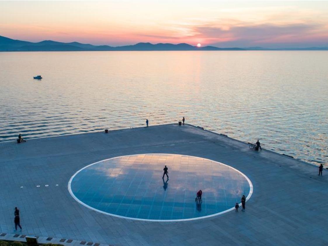 Sunset scenery in Zadar, Croatia