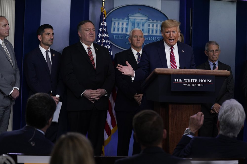 Trump uses daily coronavirus briefing to attack reporter