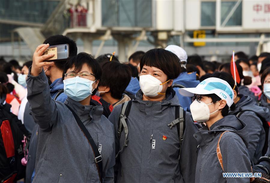 Medics supporting Hubei return home