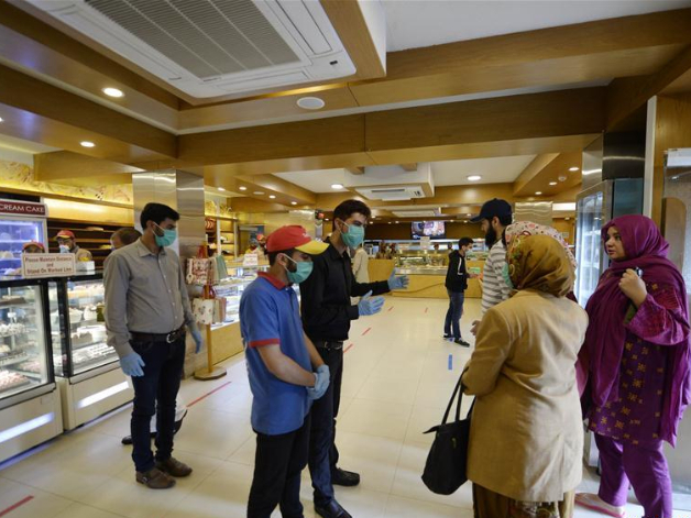 People take precautionary measures against spread of novel coronavirus in Islamabad, Pakistan
