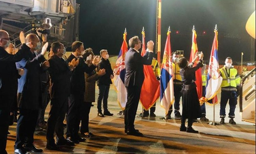 Chinese medics arrive in Serbia to fight COVID-19