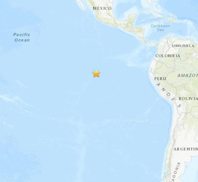6.1-magnitude quake hits Central East Pacific Rise
