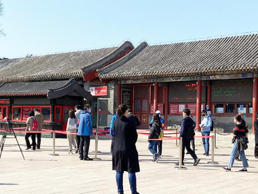 Visitors enjoy spring at Beijing's Summer Palace