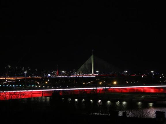 Belgrade illuminates bridges, key buildings to show Serbia's gratitude to China