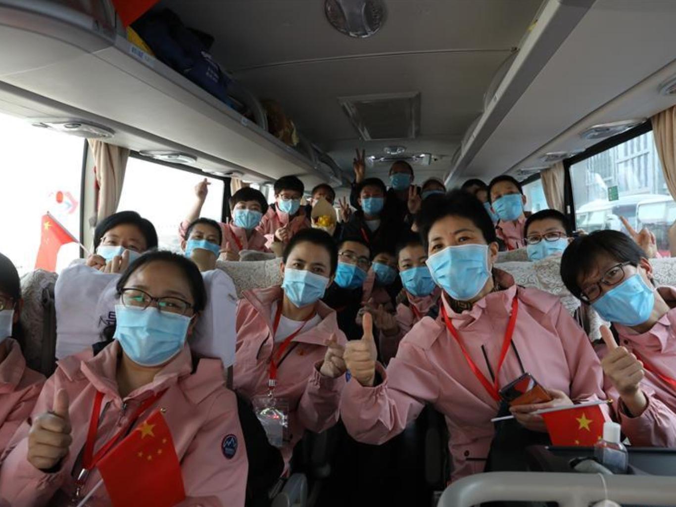 147 medics from Gansu return home