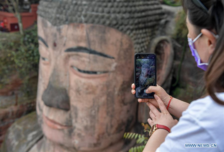 Leshan Giant Buddha in Sichuan reopens to tourists