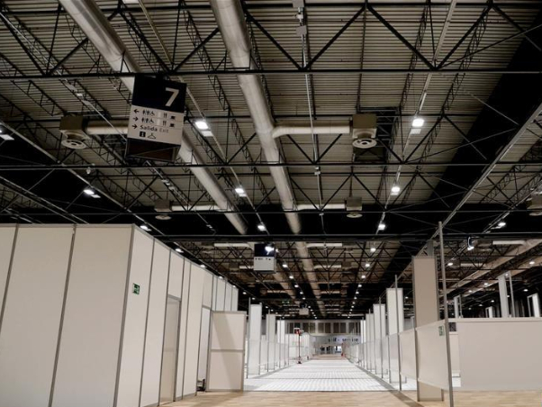 In pics: field hospital set up at IFEMA Exhibition center in Madrid, Spain