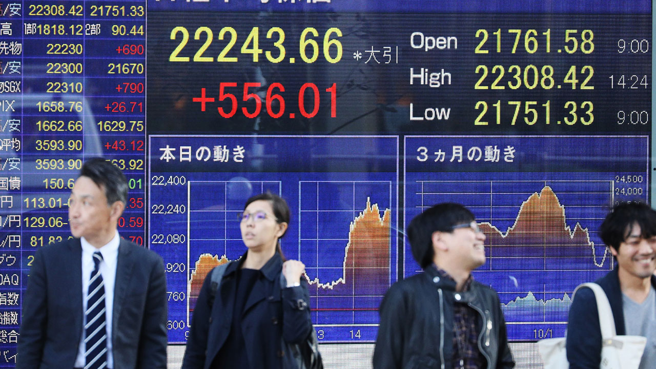 Tokyo's Nikkei closes up more than 7%