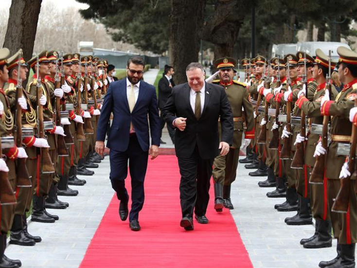 Pompeo visits Afghanistan, discusses peace process with president