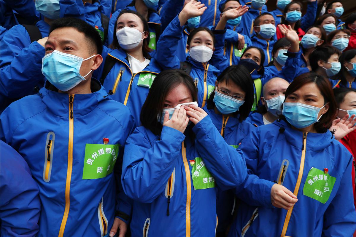 Last Guizhou medical team aiding Wuhan heads home