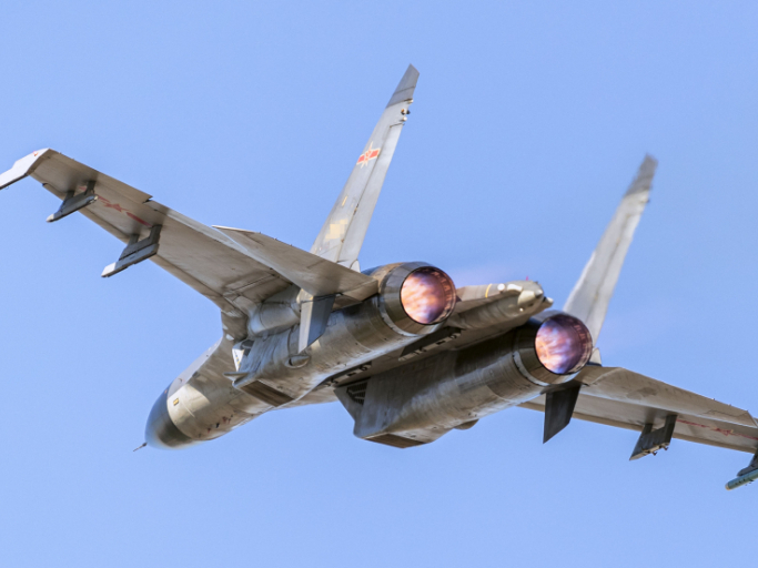 Fighter jets participate in round-the-clock flight training