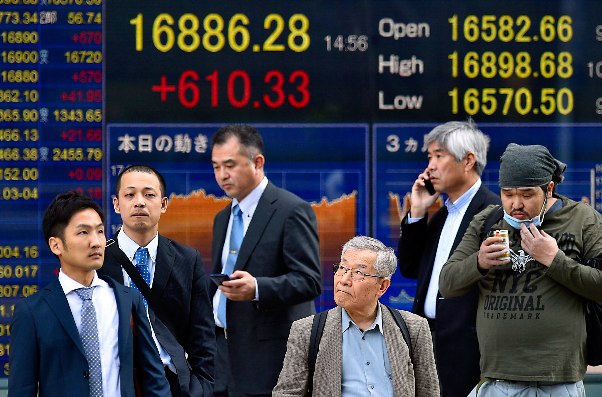Tokyo stocks open sharply higher following Dow's record point rise