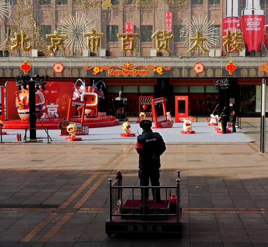 Beijingers stick to their posts despite epidemic outbreak