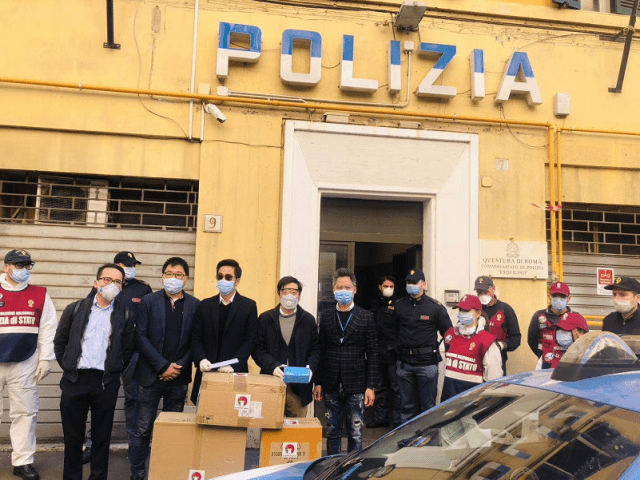 Governor of the Rome provincial police sent handwritten letter to thank local Chinese people