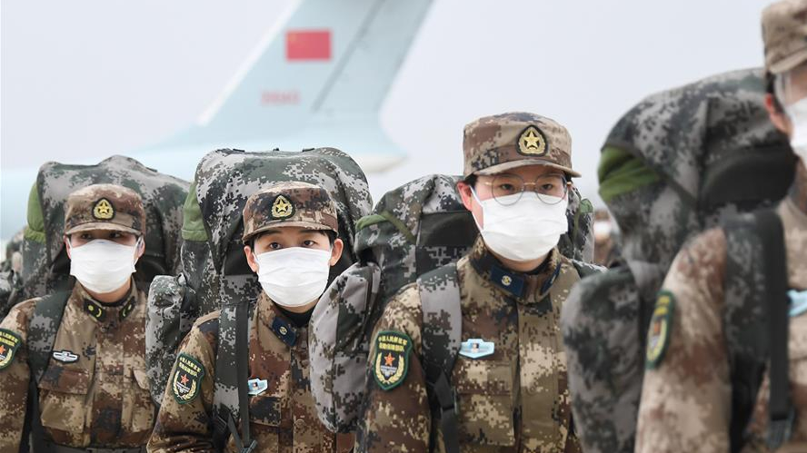 4,000-plus military medics to continue supporting Wuhan anti-virus battle