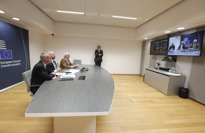 EU leaders battle coronavirus on health, economic fronts