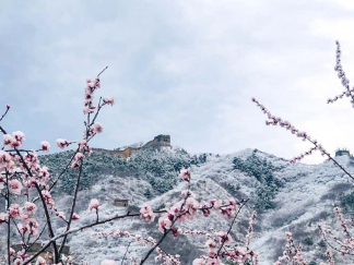Snow scenery of the Badaling Great Wall