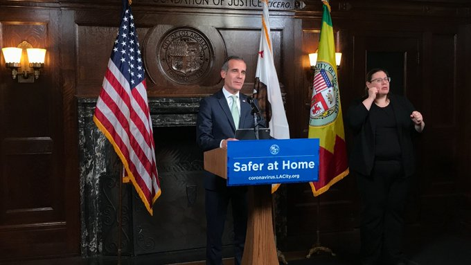 LA mayor thanks Chinese cities for donating medical supplies