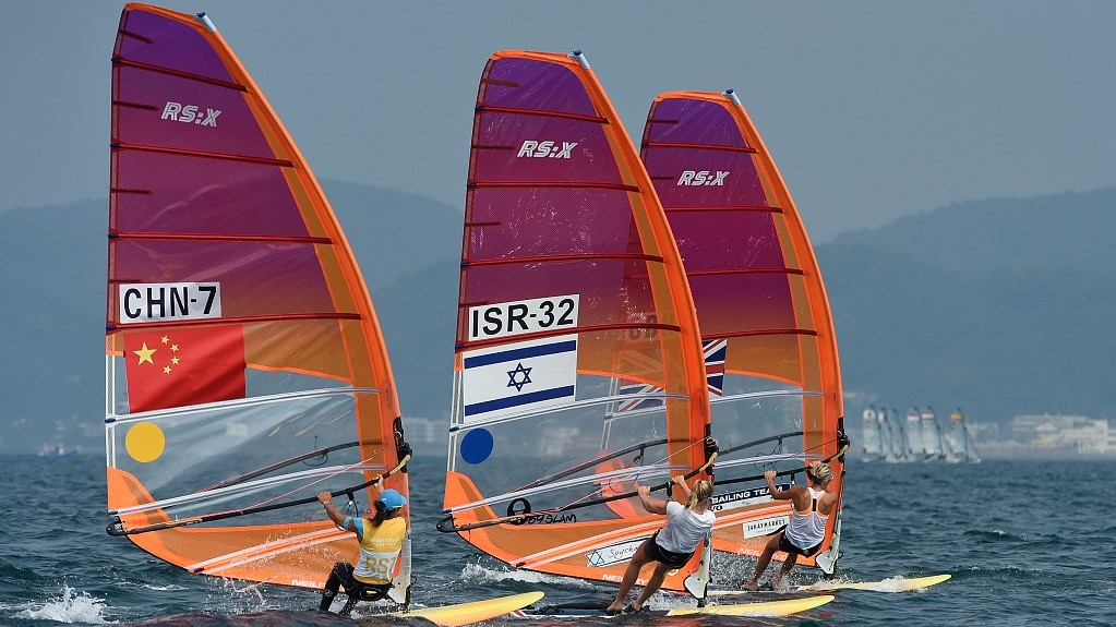 Chinese sailing and windsurfing team continue training during COVID-19 pandemic