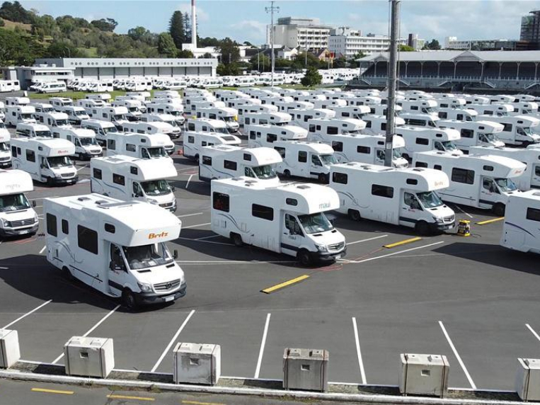 Recreational vehicles prepared as backup quarantine facility in Auckland, New Zealand