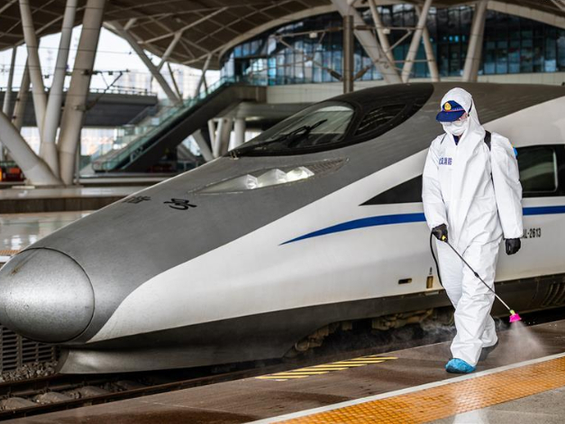 Wuhan starts reopening railway, flight services