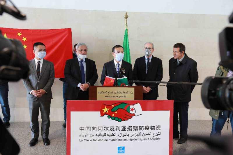 Algeria receives medical supply donation from China