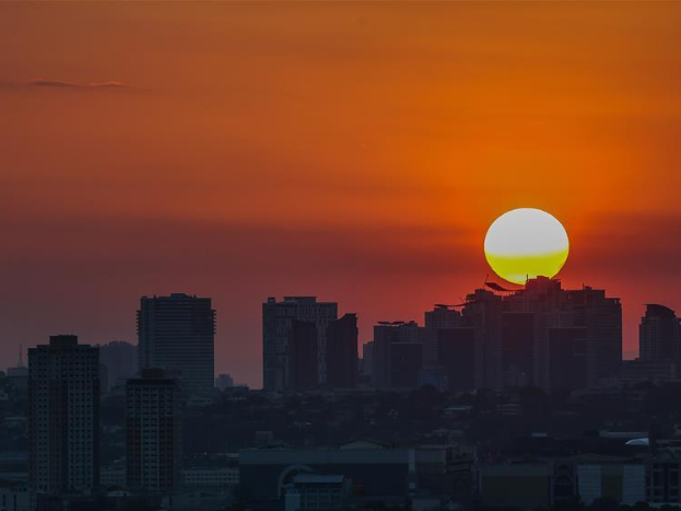 Sunset scenery in Manila City, the Philippines