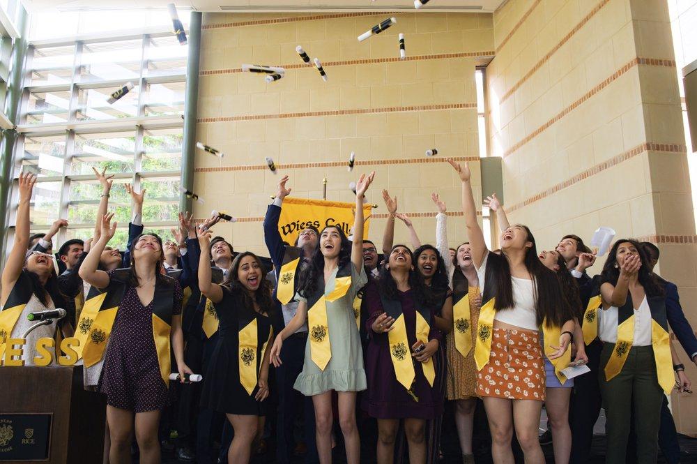 College seniors hurried to squeeze in last school memories