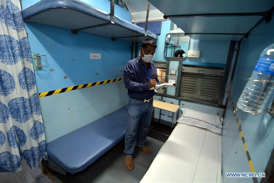 Indian railway authorities prepare to convert train coaches into isolation wards to fight against COVID-19