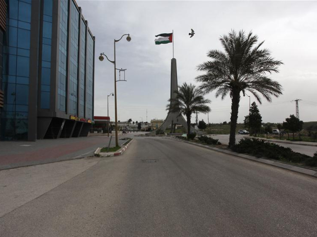 In pics: empty street in West Bank city of Ramallah