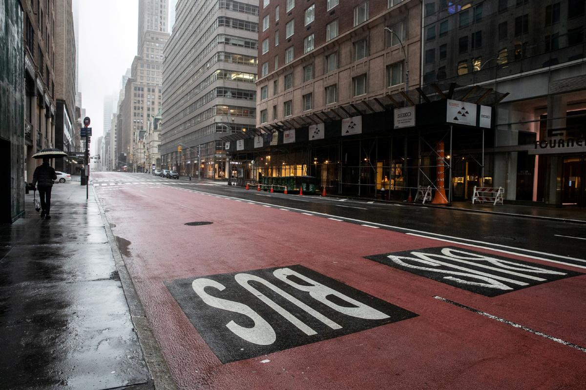 Eery silence speaks to New York pain