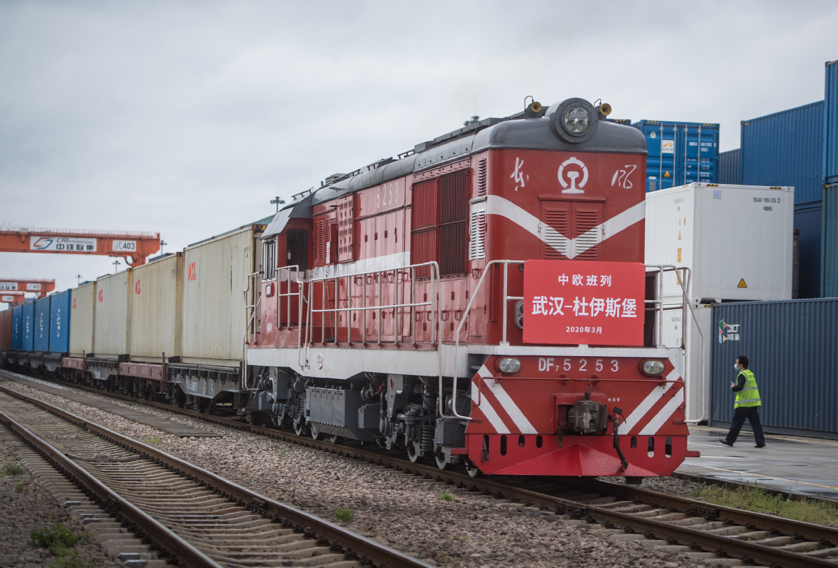 Cargo trains help maintain China-Europe trade